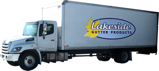 Lakeside Gutter Products Delivery Truck